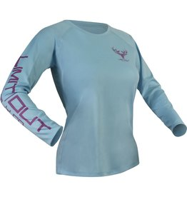Limit Out Supply Co. Womens Water Blue Dri-Fit