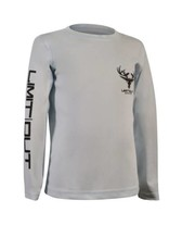 Youth- Arctic Blue Long Sleeve Dri-Fit