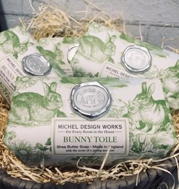Michel Design Works Bunny Toile Large Bath Soap Bar