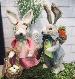 Two's Company Hand-crafted Easter Bunny, Small
