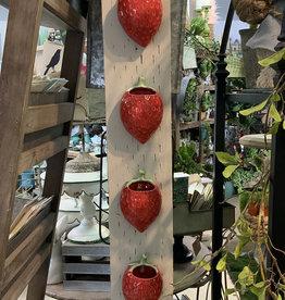 Creative Co-Op Stoneware Strawberry Wall Planter