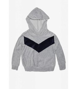 Joah Love Joah Love Velour Hoodie-Heather Grey