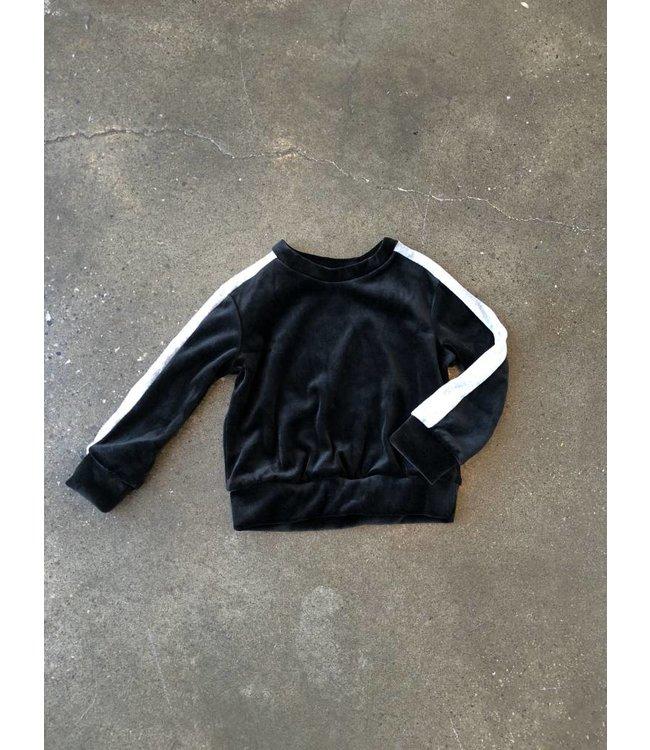 Joah Love Joah Love Taye Lux Velour Pullover-Black