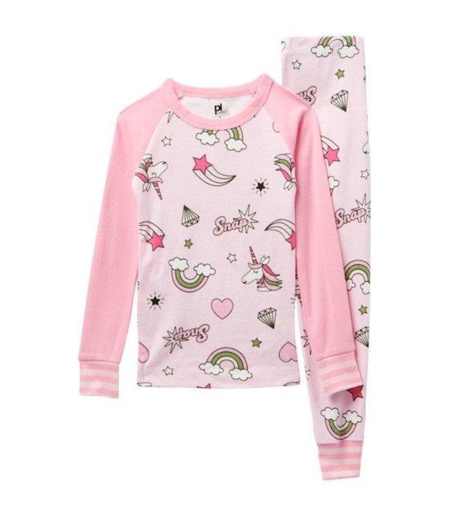 Petit Lem Petit Lem Sleeping Unicorn Pajama Set (2 pcs.) Size 10