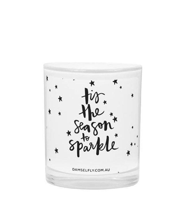 Damselfly Damselfly Tis The Season To Sparkle Candle