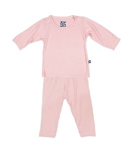 KicKee Pants Kickee Pants Long Sleeve Pajama Set-Lotus