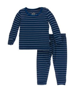 KicKee Pants Kickee Pants Long Sleeve Pajama Set-Tokyo Navy Stripe
