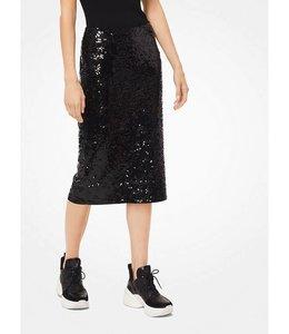 Michael Kors Michael Kors Sequined Jersey Pencil Skirt