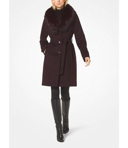 Michael Kors Michael Kors Wool-Blend Fur-Collar Coat