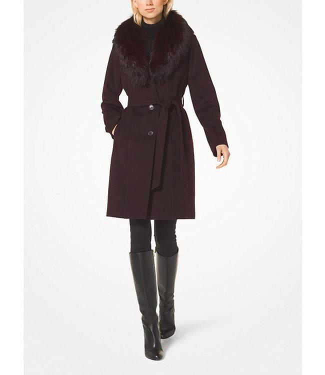 Michael Kors Michael Kors Wool-Blend Fur-Collar Coat
