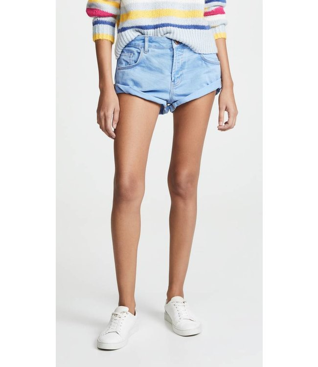 ONE X ONETEASPOON ONE X ONETEASPOON Bandits Denim Shorts-Blue Envy