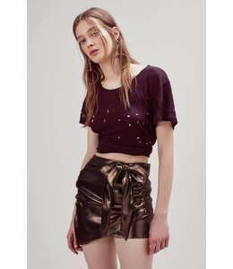 For Love & Lemons For Love & Lemons Blackjack Mini Skirt-Copper