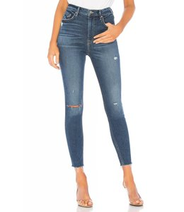 GRLFRND Kendall Highrise Skinny Crop-Fox Fire