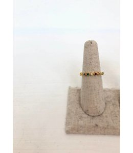 NYCS NYCS Dainty Gold Multi Ring-Size 7