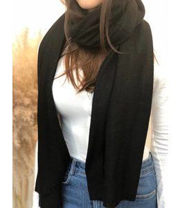 FINE Label Cashmere Travel Wraps- Black