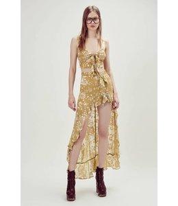 For Love & Lemons For Love & Lemons Cosmo Asymetrical Skirt-Mustard