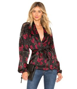 CAMI NYC CAMI NYC The Kimberly Top-Red Rose