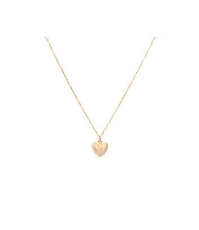 Melanie Auld Melanie Auld Full Heart Necklace-Gold