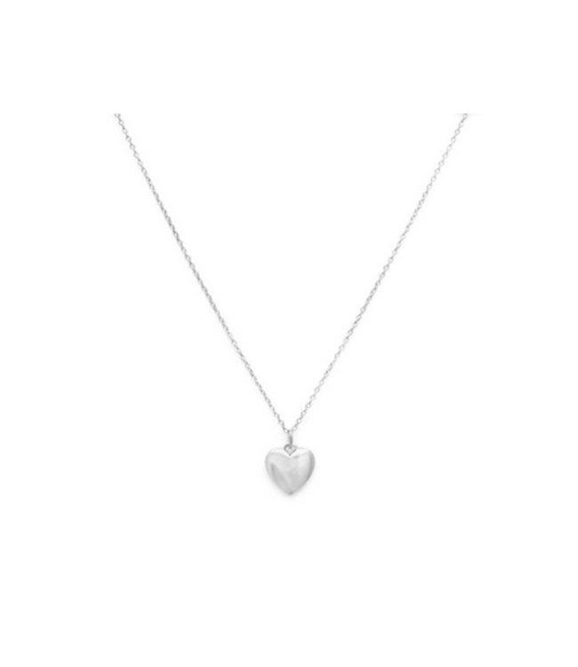 Melanie Auld Melanie Auld Full Heart Necklace-Silver