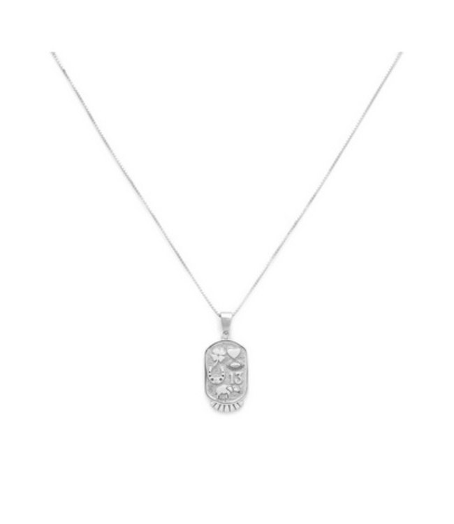 Melanie Auld Melanie Auld Fortune Necklace-Silver