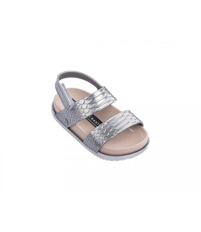 Mini Melissa Cosmic Sandal-Silver/Pink
