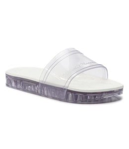 Mini Melissa Slide + Rider-Clear/White