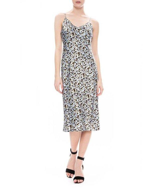 L'AGENCE L'AGENCE Jodie Slip Dress-Sky Blue Multi