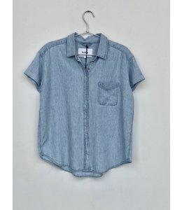 Pistola Pistola Courtney Cuffed Short Sleeve Shirt-Blue Jay