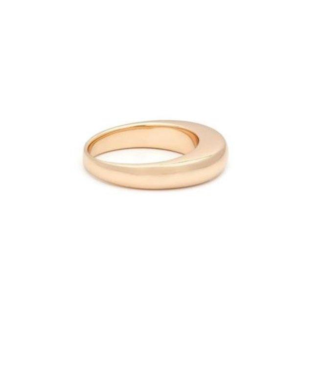 Melanie Auld Melanie Auld Curve Ring-14K Gold Vermeil