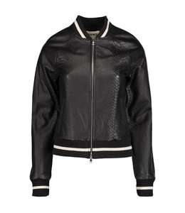 L'AGENCE L'AGENCE Atty Lether Bomber Jacket-Black