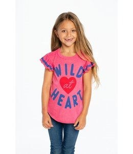 CHASER Chaser Flutter Sleeve Top-Wild At Heart