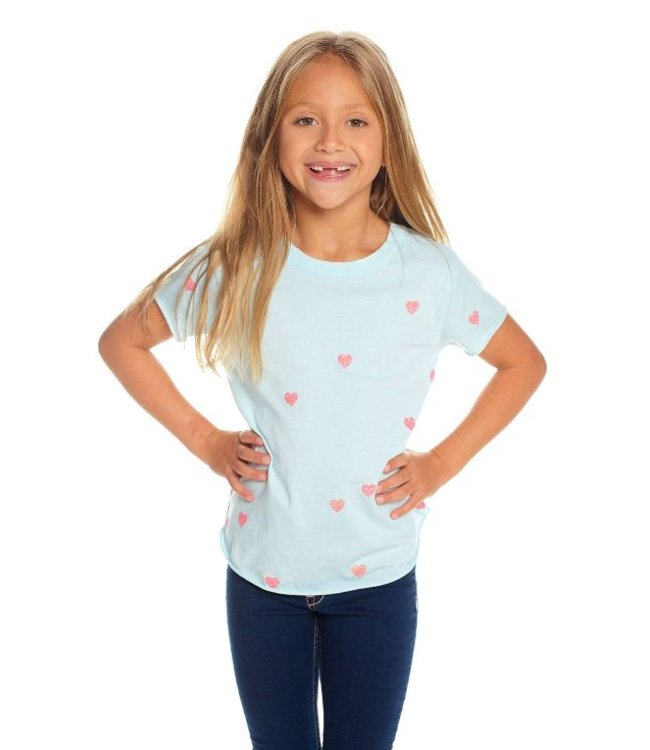 CHASER Chaser Vintage Crew Neck Tee-Tiny Hearts