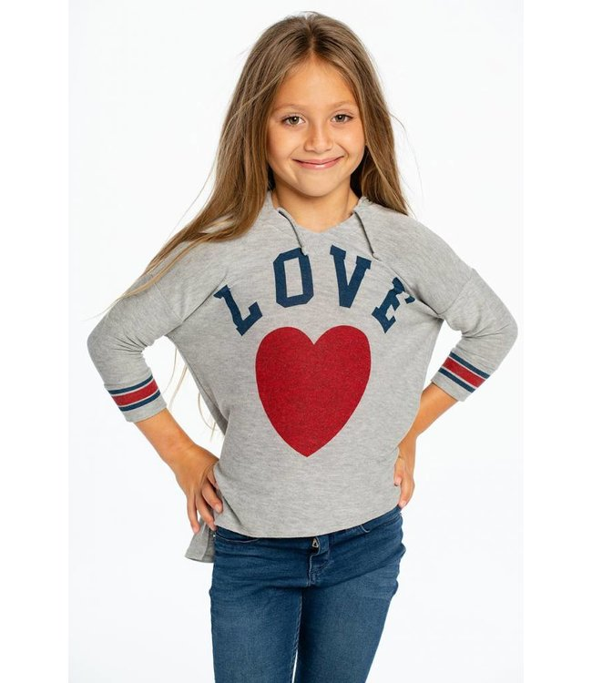 CHASER Chaser Cozy Knit Pullover Hoodie-Love