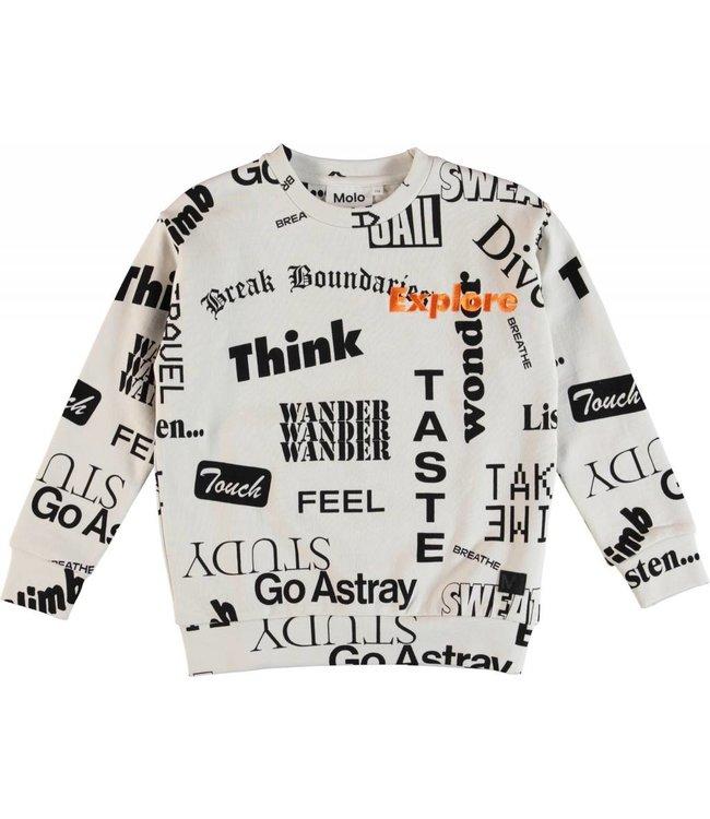 Molo Molo Madsim Sweatshirt- Words