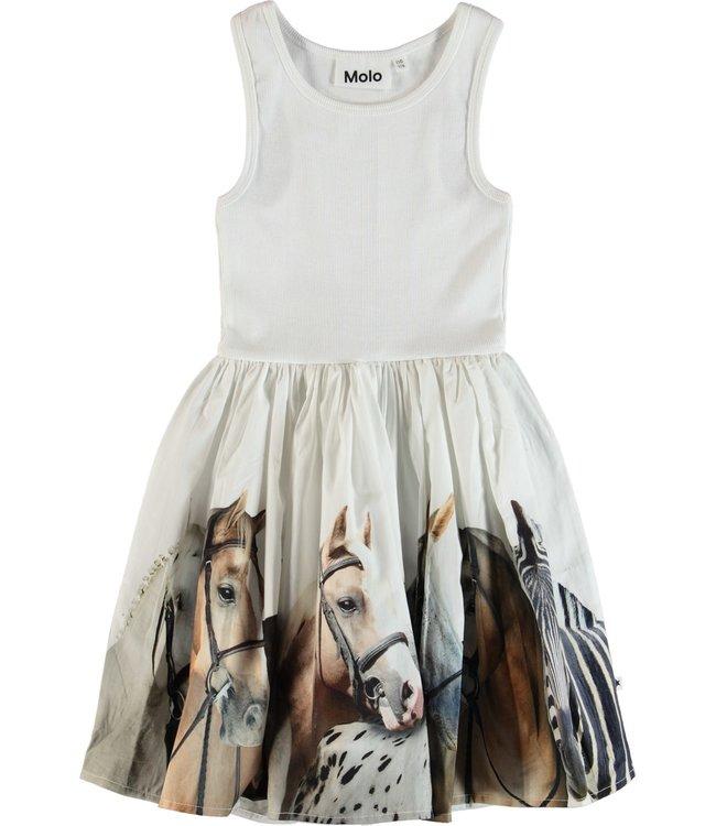 Molo Molo Cassandra Dress-Horse Stripe