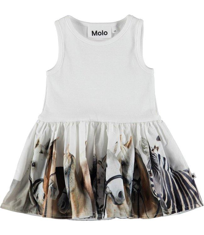 Molo Molo Cordelia Dress- Horse Stripe Baby