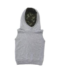 Portage and Main Portage and Main The Sleeveless Terry Hoodie-Camo