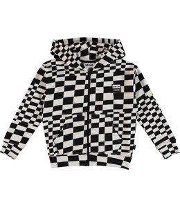 Molo Molo Macci Hoodie- Check Stripe