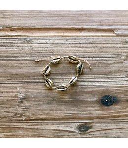 Refinery Refinery Puka Shell Bracelet-Gold