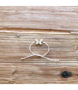 Refinery Refinery Butterfly Beaded Bracelet