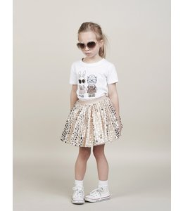 HUX BABY HUX BABY Gold Leopard Tulle Skirt