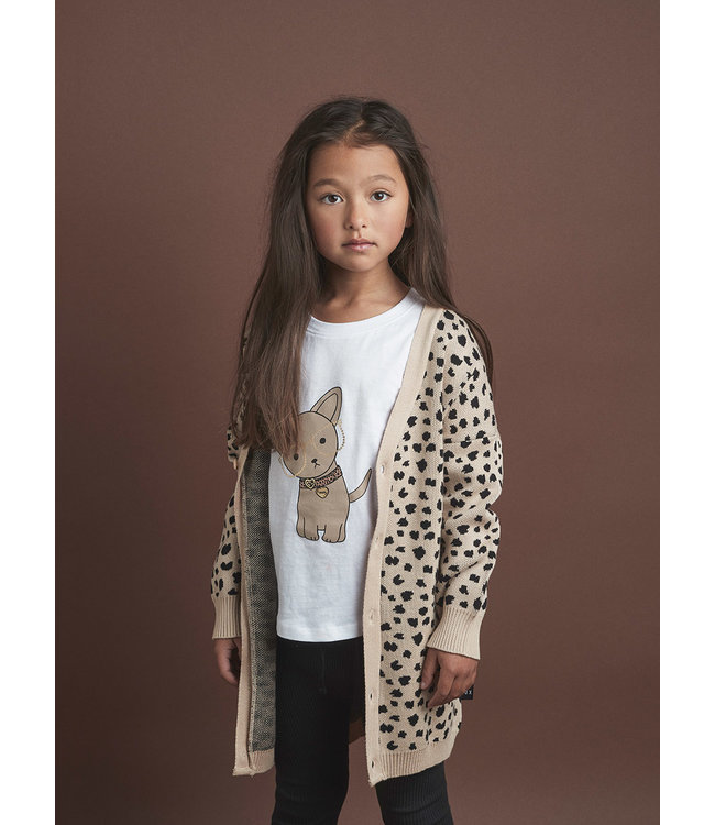 HUX BABY HUX BABY Leopard Knit Cardigan