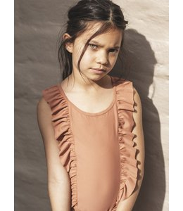 HUX BABY HUX BABY Frill Swimsuit-Terracotta