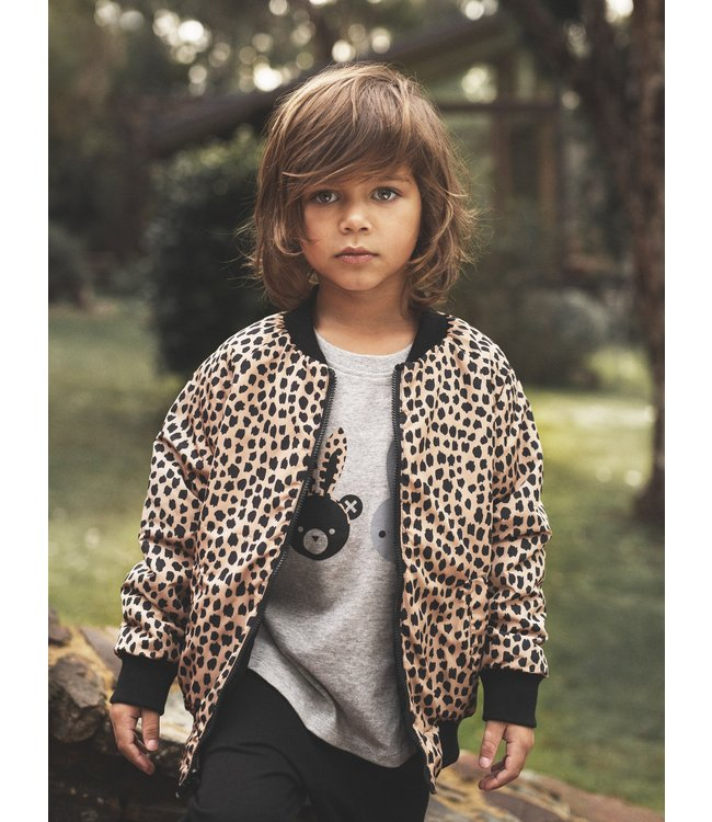 HUX BABY Reversible Padded Jacket-Black/Leopard