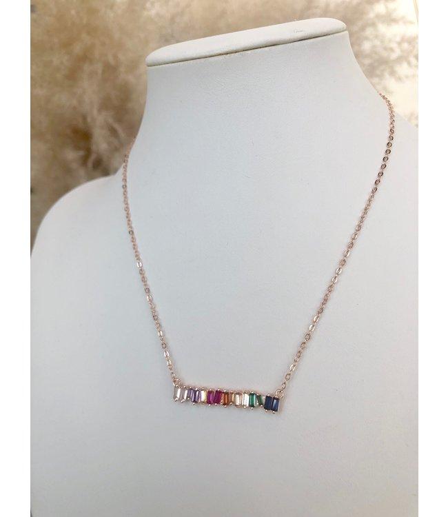 NYCS NYCS Rainbow Bar Necklace