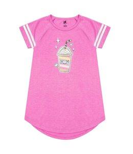 Petit Lem Petit Lem Girls Knightgown- Milkshake