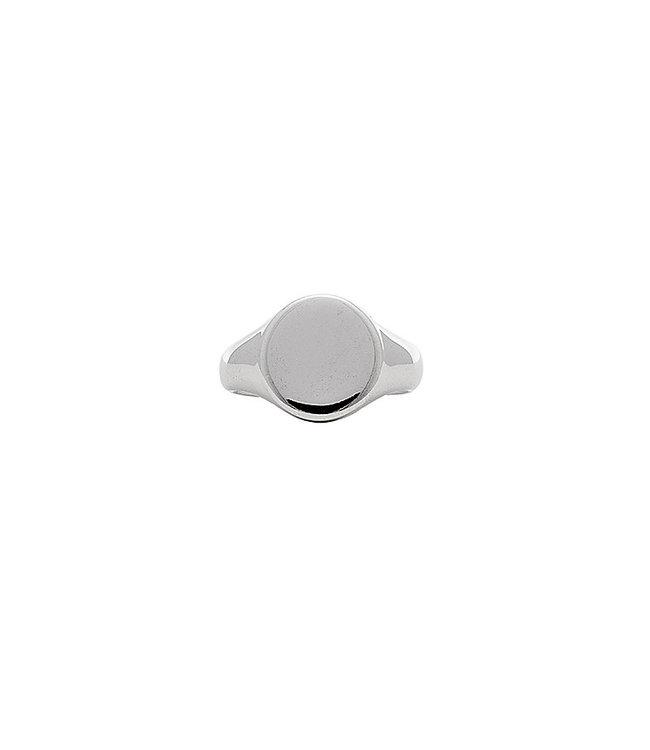 Melanie Auld Melanie Auld Signet Ring Brass Silver Size 7