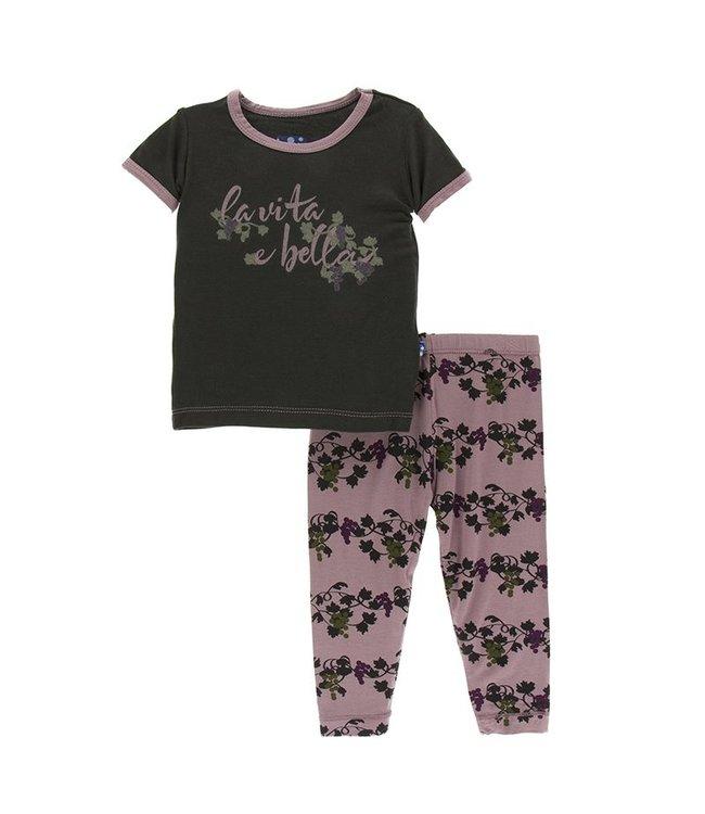 KicKee Pants Kickee Pants Short Sleeve Pajama Set-Grape Vines
