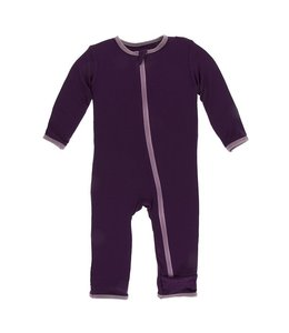 KicKee Pants Kickee Pants Solid Coverall With Zipper- Wine Grapes