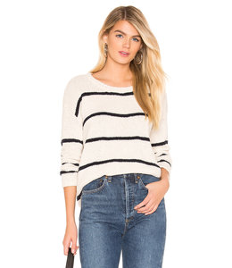 One Grey Day One Grey Day Lennon Stripe Pullover-Ivory